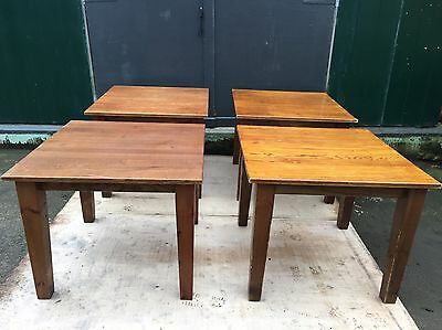 Set Of 4 Solid Wood Cafe Table
