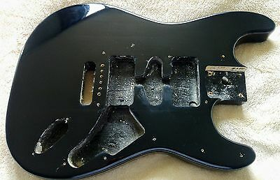Black Stratocaster Electric Guitar Body