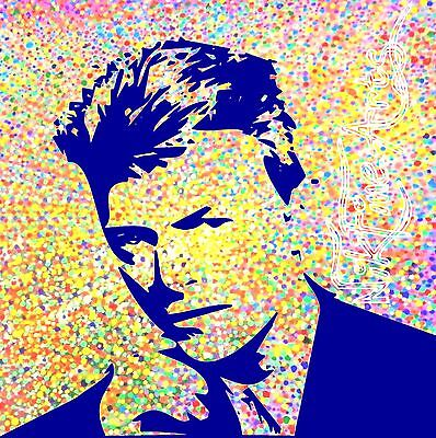 Nik Tod Recreated From Original Painting Large Signed Textured Art David Bowie