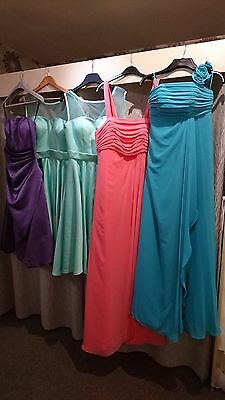 Job lot 5 x Excellent Bridesmaids/Evening/Prom dresses in Mixed Sizes