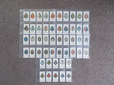 "Wills's Original complete set of 50 ""SHIPS BADGES"" ex condition"