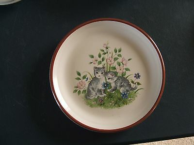 Purbeck Pottery  Small Plate With Cat Design