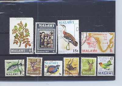 MALAWI  SMALL COLLECTION OF STAMPS 12Cl