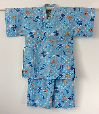 Authentic Japanese jinbei for women, traditional summer wear, used, S(G1059)
