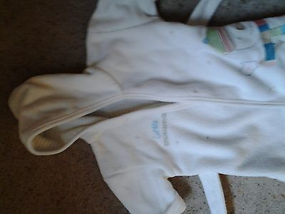 Baby Robe. Cream. Little Snowman. Mothercare. Age Up To 6 Months.