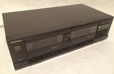 Technics RS-T130 Stereo Dual Double Cassette Player Recorder Deck Works Great