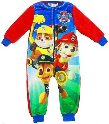 New Sz 1-6 Kids Winter Pyjamas Bodysuit Paw Patrol Boys Sleepwear Jump Suit Top