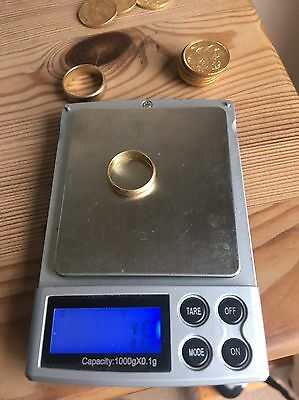 18ct Gold Wedding Band, Full Hallmarked With Maker, 750