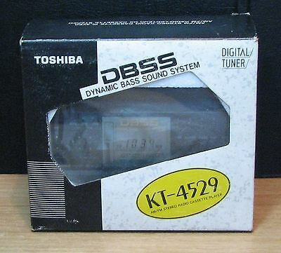 WALKMAN - TOSHIBA KT-4529 STEREO CASSETTE PLAYER - NUOVO NEW OLD STOCK - Vintage