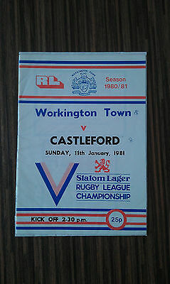 Rare Workington Town V Castleford 11.01.1981 Program
