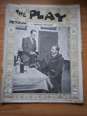 THE PLAY PICTORIAL Issue 208 A Temporary Gentleman - HF Maltby, Gordon Ash