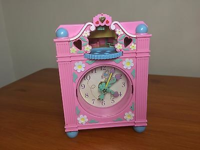Vintage polly pocket Fun Time Clock Play Pink  working lovely Clock genuine