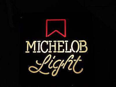 Vintage Michelob Light Beer Sign Lighted New Old Stock Mancave Vintage Bar Light