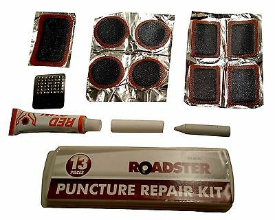 12Pc Bike Bicycle Cycle Tyre Tube Puncture Patch Repair Levers Spanner Tool Kit