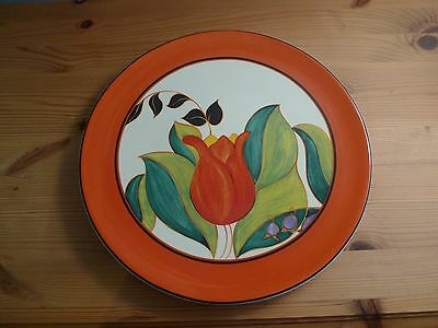 Wedgwood Clarice Cliff Centenary Plate in Red Tulip