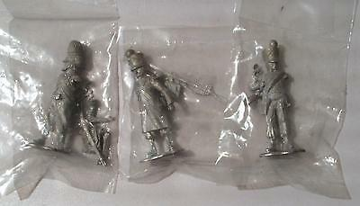 3 x Napoleonic French Army - Tradition White Metal Model Toy Soldiers - New