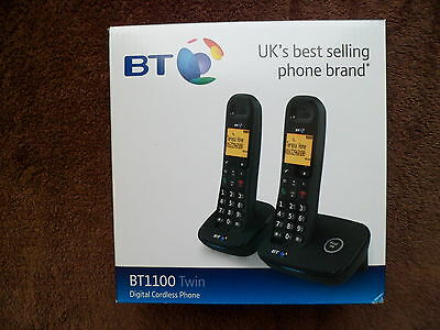 Bt1100 Twin Digital Cordless Phones Brand New In Original Box