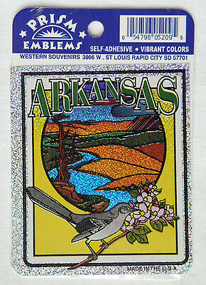 ARKANSAS Prism Emblems Sourvenir Self Adhesive Decals