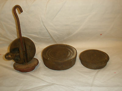 Vintage /Antique Iron Balance/Scale weights