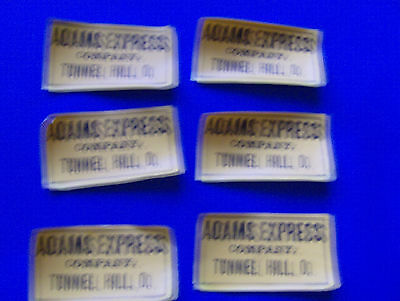 6 Adams Express Company Labels Tunnel Hill Ohio Coshocton County