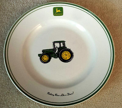 "Gibson John Deere Tractor 11"" Dinner Plate Nothing Runs Like A Deere 4 Available"