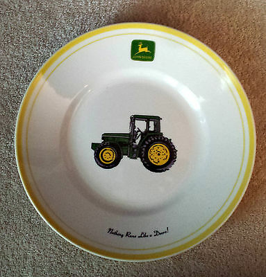 "Gibson John Deere Tractor 9""  Salad Plate Yellow Rim 3 Available"