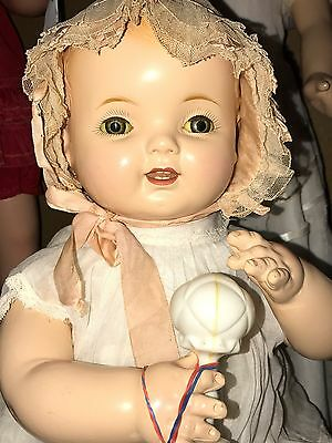 """Large Antique Composition BABY HENDREN Doll, Stunning!  Must See, 23"""" AO"""