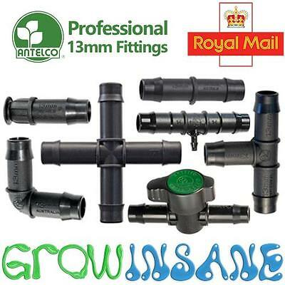 Antelco 13mm Pipe Fitting Barbed Garden Watering Micro Irrigation Connector