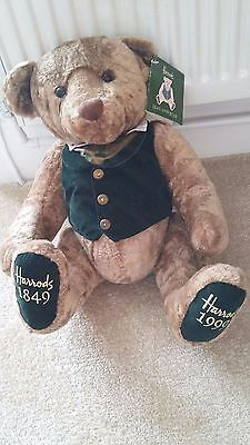 """Harrods Bear 150 Year Celebration - 13"""" Dated Feet with Tag"""