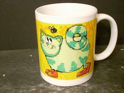 Premier Cat Coffee Cup Mug Green Cat W/ Shoes & Black & White Cat (14)