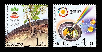 Moldova 2015 UN International Year of Soils and Year of Light 2 MNH stamps
