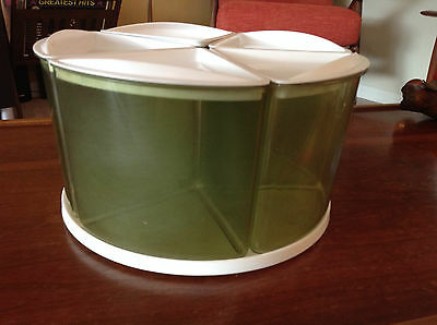 Vintage Rubbermaid green canister set with Lazy Susan