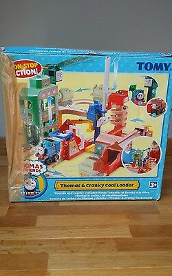 TOMY Thomas and Cranky Coal Loader Set Boxed with Instructions