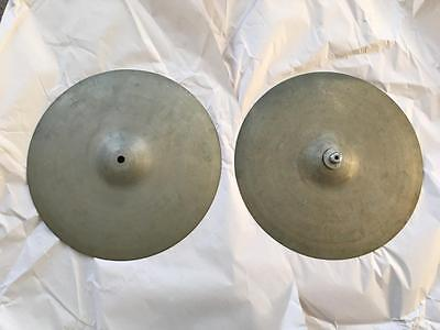 Vintage Zyn Cymbals Hi Hats ? Crash ? Made In England 14 Inches 888 896 Grams