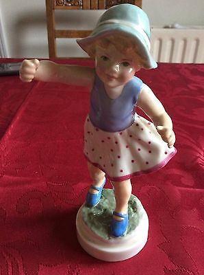 Royal Worcester Freda Doughty 'Sunday's child' ornament figurine. Stamp 'R'