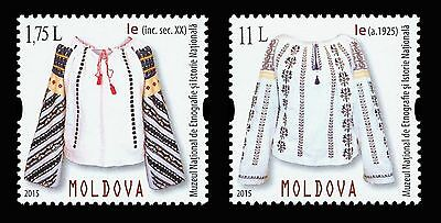 Moldova 2015 Traditional Costume «Ie» Blouse 2 MNH Stamps