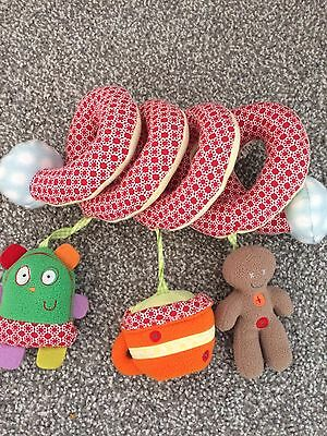 Mamas and Papas Gingerbread Soft Pram Cot Spiral activity Toy