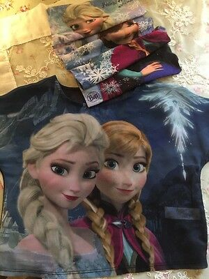 Disney Frozen Set, Buff Snood And George Blouse/ Top / Tee shirt B5-6-7y