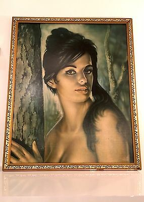 Original Vintage 1960's Tretchikoff Framed And Signed Print Of Tina By J H Lynch