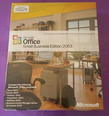 Microsoft Office 2003 Small Business New & Sealed Boxed Publisher Product Key