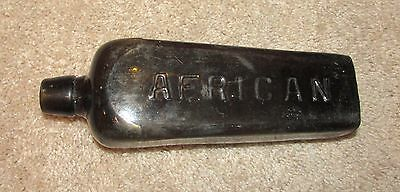 Nice Early African Dutch Case Gin Applied Top Bottle Olive Green