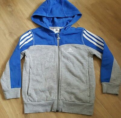 boys blue & grey  hooded tracksuit jacket age 6-7 years