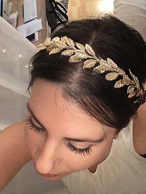 Headband lauriers dores H&M