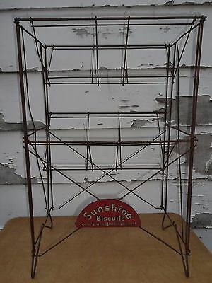 RARE! Antique Sunshine Biscuits Store Display Rack / Shelves Loose-Wiles Company