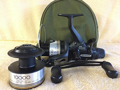 Shimano ST 10000 RA Baitrunner Reel cw spare spool (Recently Overhauled)