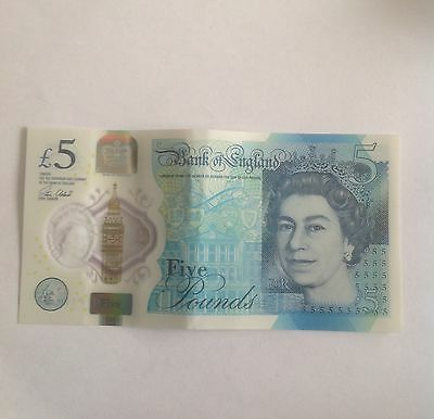 New £5 polymer note missing print collectable note