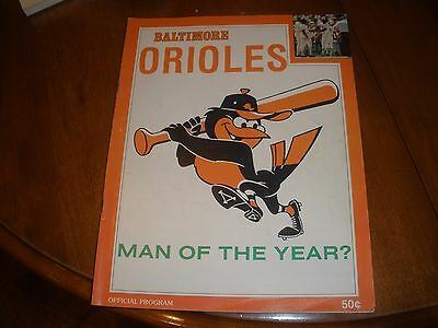 Baltimore Orioles 1978 program box score of Brewers game Bird man of the Year
