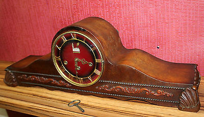 Antique Mantel Clock German Clock Bracket Clock * Westminster with 3 melodies *