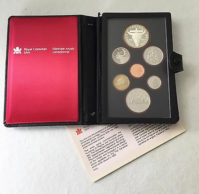 1982 CANADIAN PROOF with SILVER DOLLAR, COMMEMORATES THE FOUNDING OF REGINA