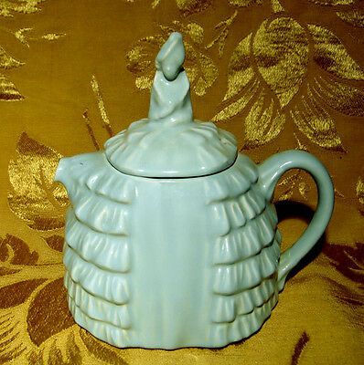 VINTAGE SADLER *YE DAINTEE LADYEE* PALE TURQUOISE TEAPOT MADE IN ENGLAND as is